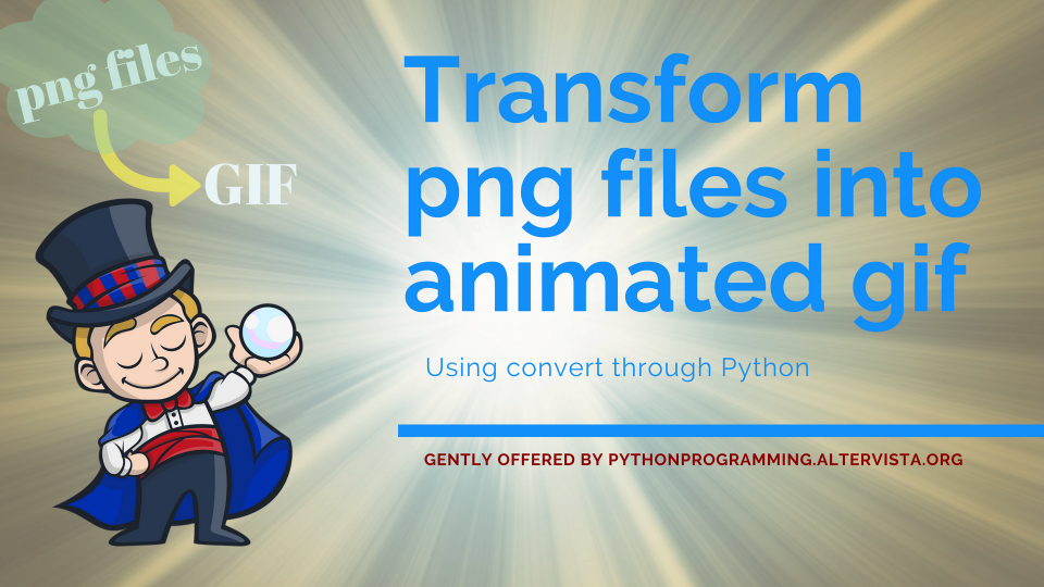 Png to animated Gif with Python | python programming